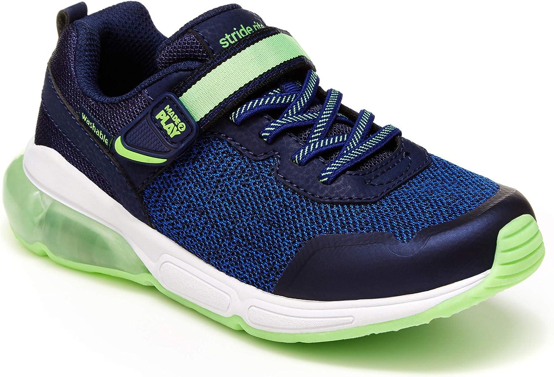 Stride Rite Boy's Made2Play Radiant Bounce Sneaker, Blue/Green, 12 Little Kid