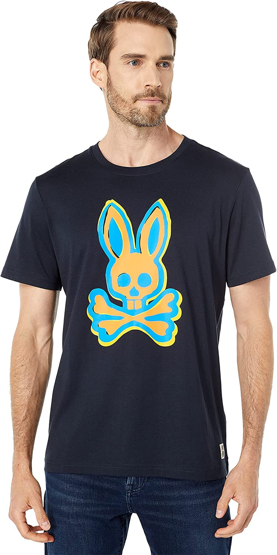 Psycho Bunny Calder Graphic SM New color 4 Tee Navy Max 52% OFF