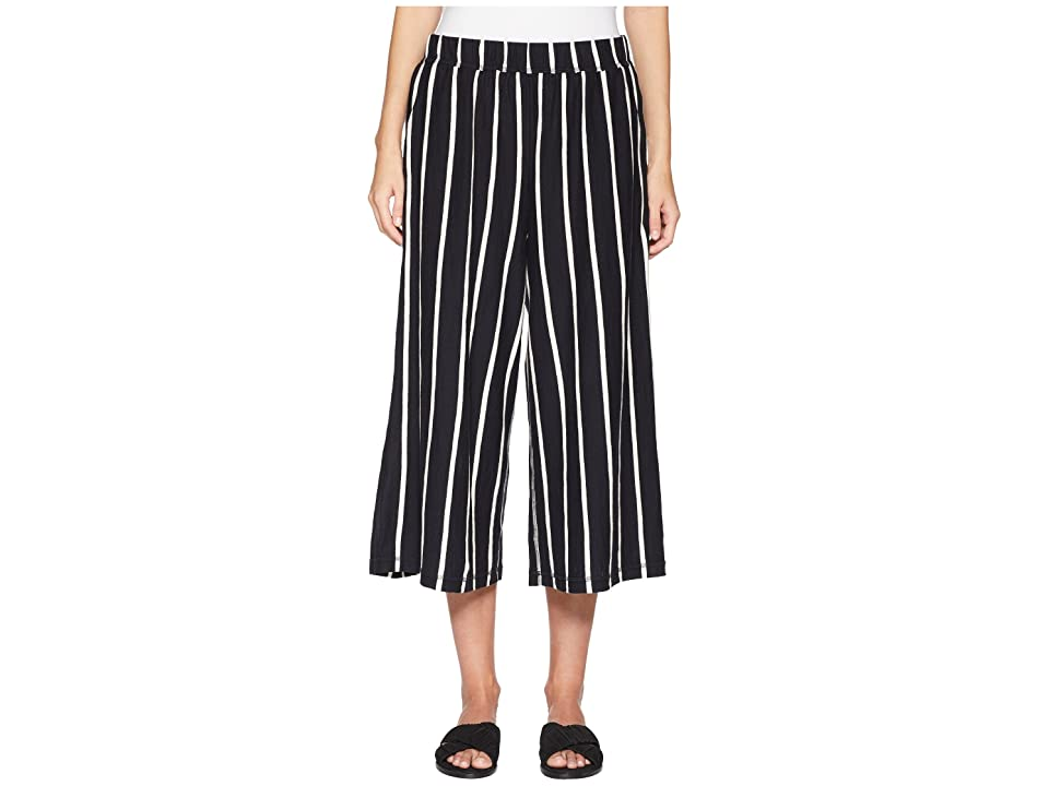 Eileen Fisher Wide Capri Pants (Black/White) Women