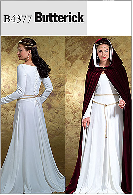 Butterick B4377 Women's Dress and Sewing Pa shop Tulsa Mall Cape Cosplay Costume