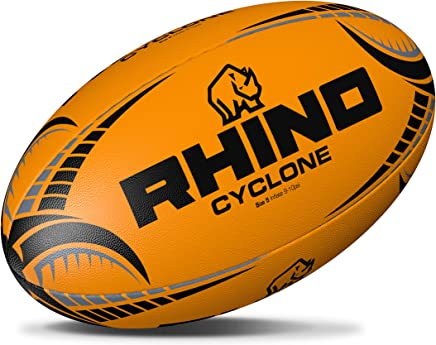 444d6fa01b161 Rhino Cyclone XV d'entraînement Rugby Ballon de Rugby – Fluo Orange