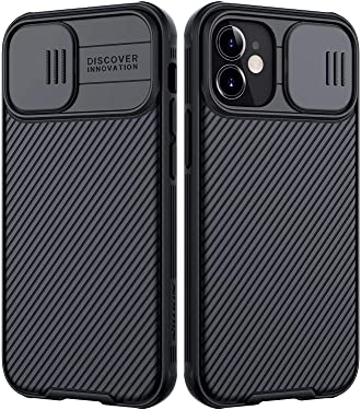 Nillkin CamShield Pro Back Cover Case for (Apple iPhone 12 Mini- Black)