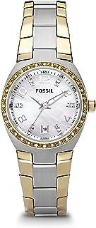 Fossil Two-Tone Silver Dial Glitz Watch