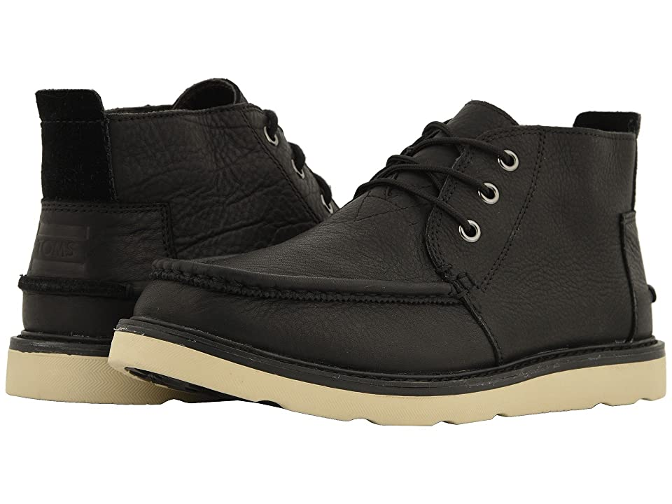 TOMS Chukka Waterproof (Black Leather) Men