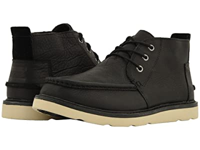 TOMS Chukka Waterproof (Black Leather) Men