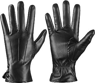 دستکش چرمی ISHISBEB برای مردان دستکش گرم زمستانی صفحه لمسی صفحه گرم پشم گرم ارسال پیامک دستکش اسکی رانندگی