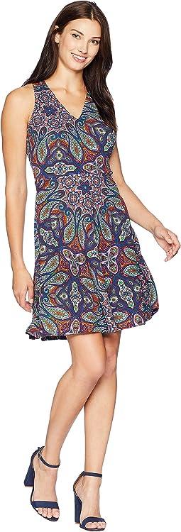 Halter Neck Fit & Flare Dress