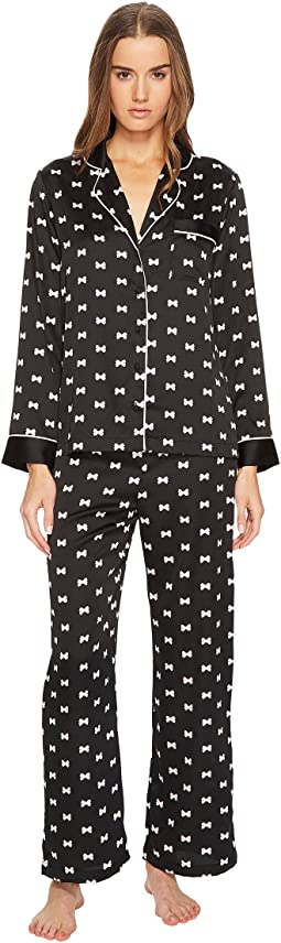 Kate Spade New York Bow Satin Pajama Set
