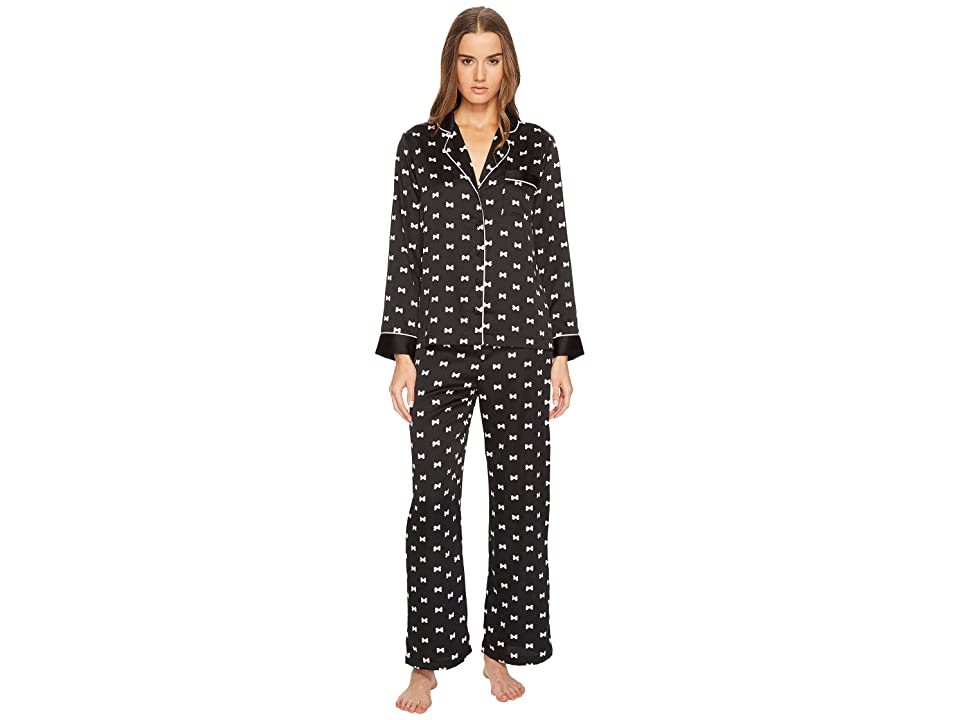 Kate Spade New York Bow Satin Pajama Set (Bows) Women