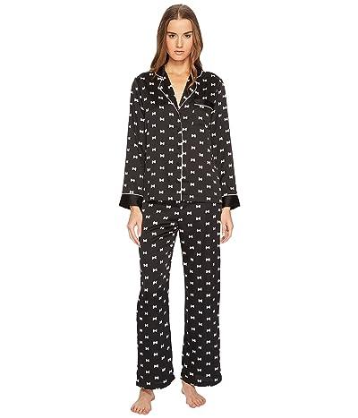 Kate Spade New York Bow Satin Pajama Set (Bows) Women