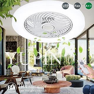LED Regulable Luz De Techo Ventilador De Techo Con Iluminación Lámpara De Techo Moderna Remota Control Remoto Ultra Silencioso Can Timing Lámpara De Dormitorio De Sala De Estar Creativa