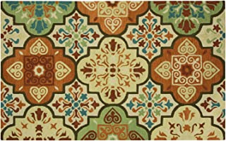 Bacova Guild Imperial Moroccan Tile Suns Indoor Outdoor Accent Rug, 120