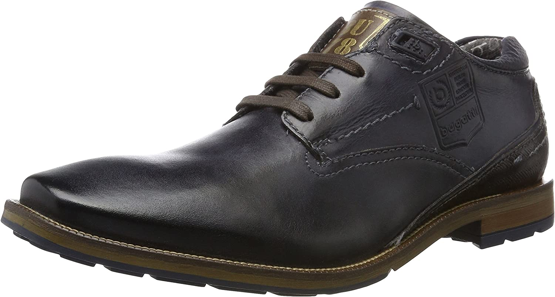 Bugatti Men Lace-Up shoes bluee, (dark bluee) 312311021100-4100