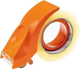 PROSUN Easy-Mount 2 Inch Tape Gun Dispenser Packing Packaging Sealing Cutter Orange Handheld Warehouse Tools