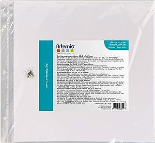 Artemio VIAP01 10 Pochettes en Plastique vides pour abum Photo pour Scrapbooking 30.5cm x 30.5cm-3 Perforations, Multicolo...