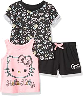 Hello Kitty Girls' 3 Piece Short Set