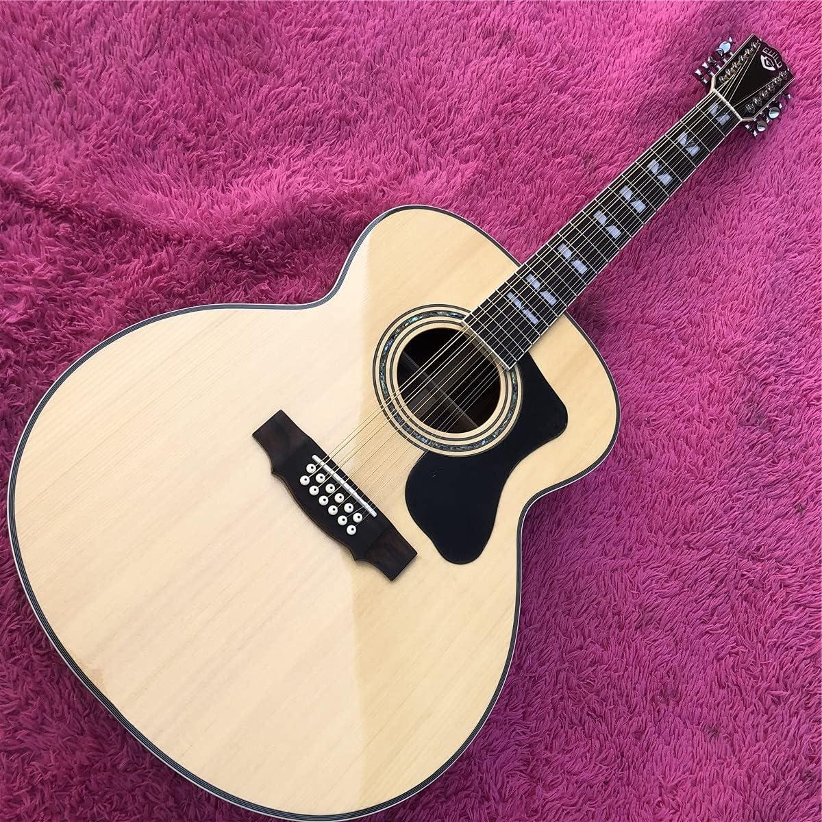 Guitarra 12 Cuerdas Solid A Spruce Top F50 Guitarra Acústica Aceptó 43 Pulgadas Guild Electric Guitarra Guitarra de Madera AMINÍ (Size : 43 Inches)