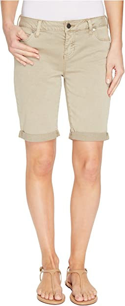 Hayden Boyfriend Shorts in Stretch Peached Twill