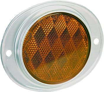 2 Pack Amber Blazer B278SAW Oblong Stick-On Reflectors