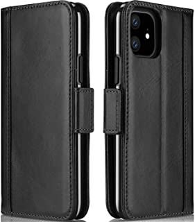 ProCase iPhone 11 Genuine Leather Case, Vintage Wallet Folding Flip Case with Kickstand Card Holders Magnetic Closure Prot...
