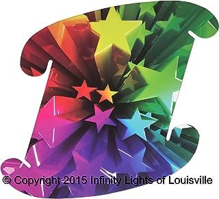 Rainbow Stars Print Pattern Medium Infinity Lights, Puzzle Lights, IQ Lights, LuvaLamps, Jigsaw Lamps, ZE Lights 30 Piece Pack USA