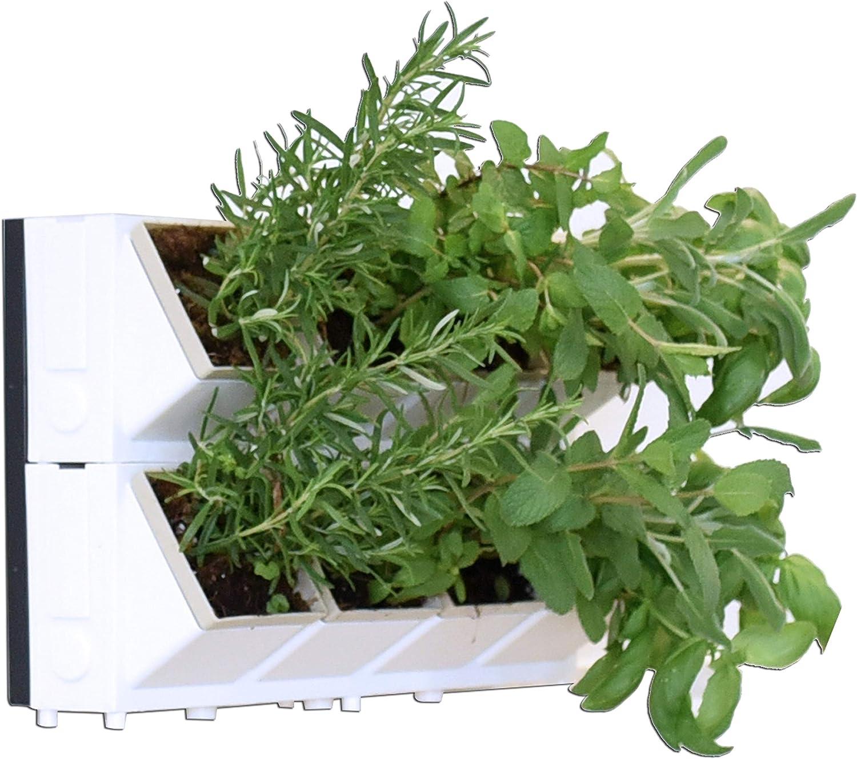 Vinea Living Walls 16 Plants - Indoor/Outdoor Vertical Wall Planter, Hanging Wall Planter with Pots, Vertical Garden Wall Planter for Patio & Balcony, Flower Wall Patio Set