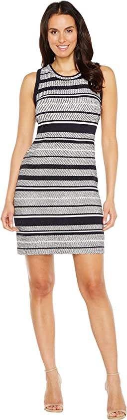 Indigo Stripe Jacquard Dress