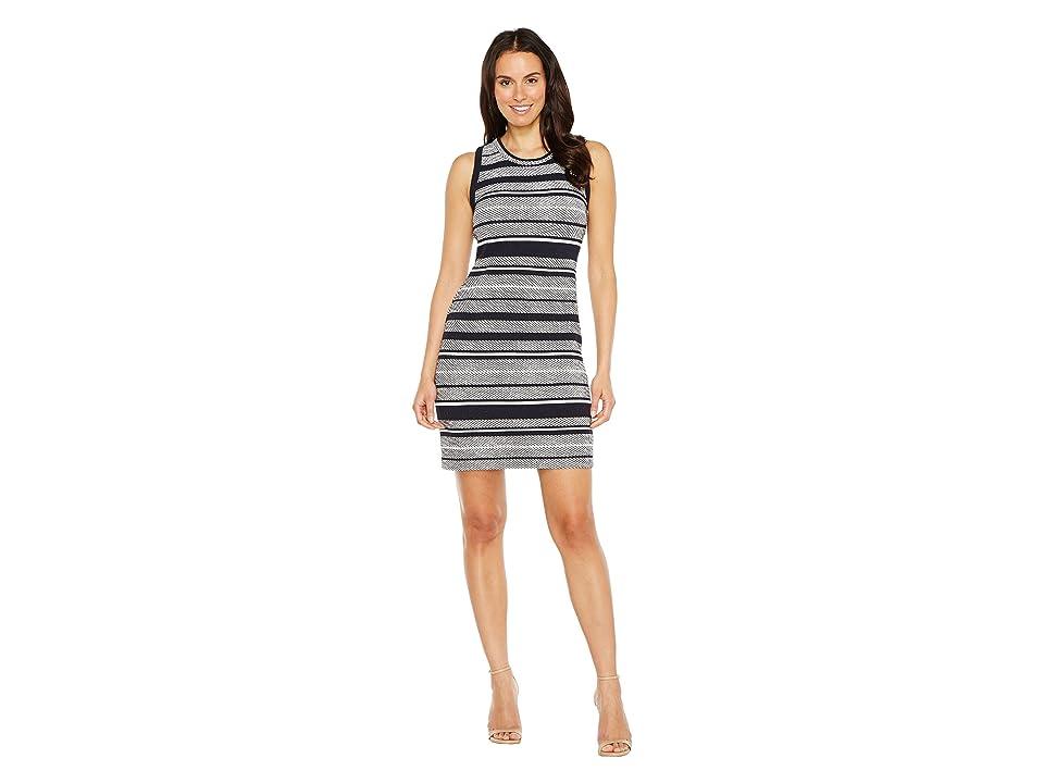 Karen Kane Indigo Stripe Jacquard Dress (Stripe) Women