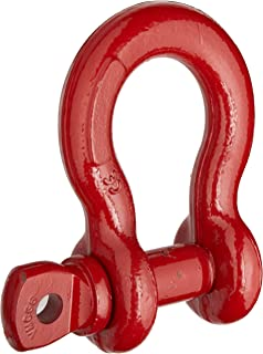 Crosby 1018525 Carbon Steel S-209 Screw Pin Anchor Shackle, Self-Colored, 6-1/2 Ton Working Load Limit, 7/8