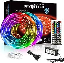 DAYBETTER Led Strip Lights 32.8ft 5050 RGB LEDs Color Changing Lights Strip for Bedroom,..