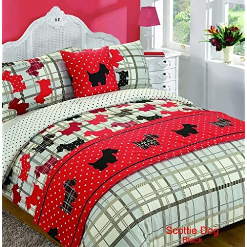54e104ce3192 SCOTTIE DOGS Tartan Style 5pc Bed In A Bag Duvet Cover Bedding Set: 1 x