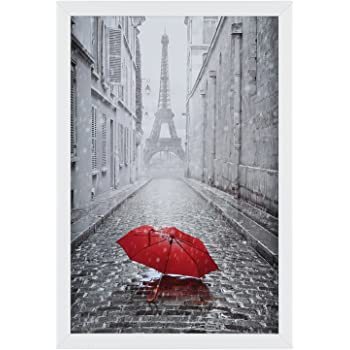 19x13 Black Modern Photo Picture Poster Frame With Quality White 17x11 Mount Amazon Co Uk Kitchen Home