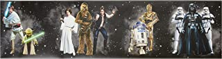 York Wallcoverings Disney Kids III Star Wars Classic Characters Border, Blacks