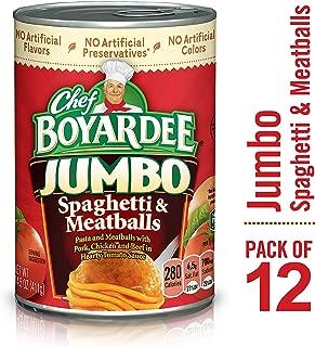 Chef Boyardee Jumbo Spaghetti and Meatballs, 14.5 oz, 12 Pack