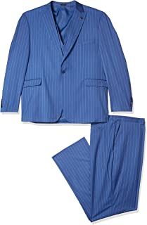 Men's Tall Size 3 Pc. Modern Fit Suit, Blue, 48R