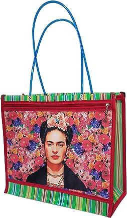 FRIDA KAHLO *FLORECITAS*. Bolsa de Mujer en Malla Multiusos, 40 x 35