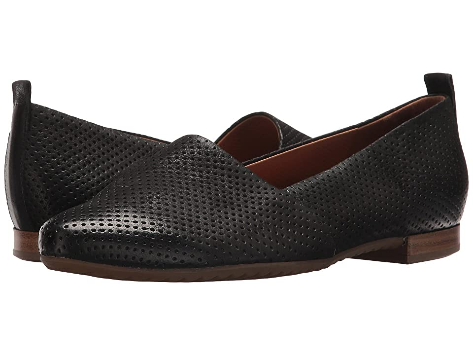 Paul Green Perry Flat (Black Leather) Women