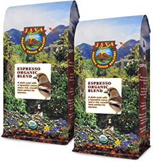 Java Planet - Espresso Coffee Beans, Organic Coffee, Dark Roast Arabica Gourmet Specialty Grade A, packaged in two 1 LB bags