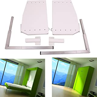 ECLV DIY Murphy Wall Bed Springs Mechanism Hardware Kit ,Vertical Wallbed Mounting,King size,White