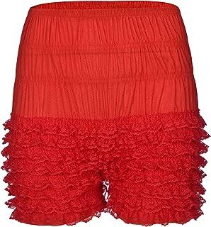 Women's Lace Ruffle Bloomers Sexy Dance Short Slips