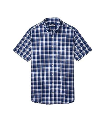 Nautica Big & Tall Big Tall Casual Woven Plaid Shirt (Blue) Men