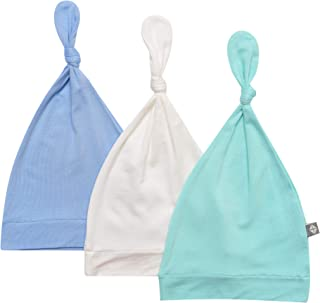 KYTE BABY Organic Bamboo Rayon Baby Beanie Soft Knotted Caps, 3 Pack