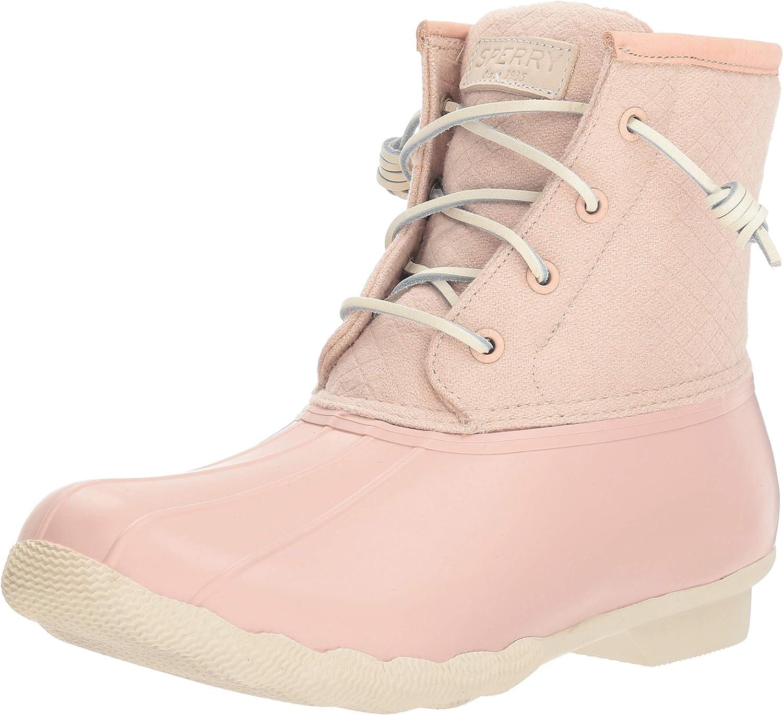 Sperry Women's Saltwater Emboss Wool Rain Boots