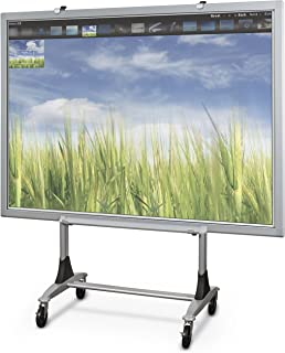 Balt Genius Mobile Dry Erase Whiteboard Stand, Interactive Projector Whiteboard Stand,