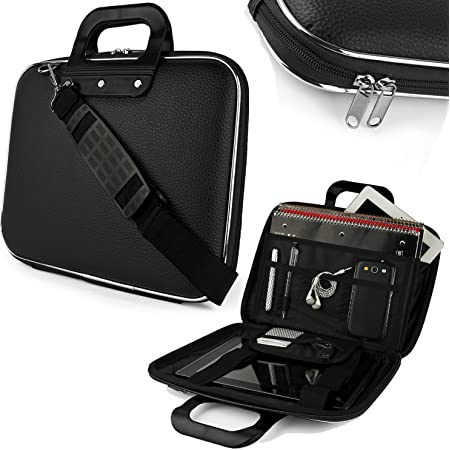 Sterling Laptop Bags for Men Waterproof 15.6 Inch PU Leather Durable Messenger Carry Bags with Shoulder Strap Suitable for HP, Lenovo, Dell etc.