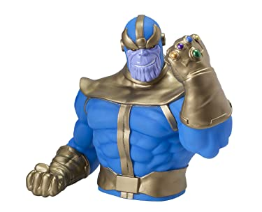 """Marvel Thanos PVC Bust Bank,Multi-colored,4"""""""