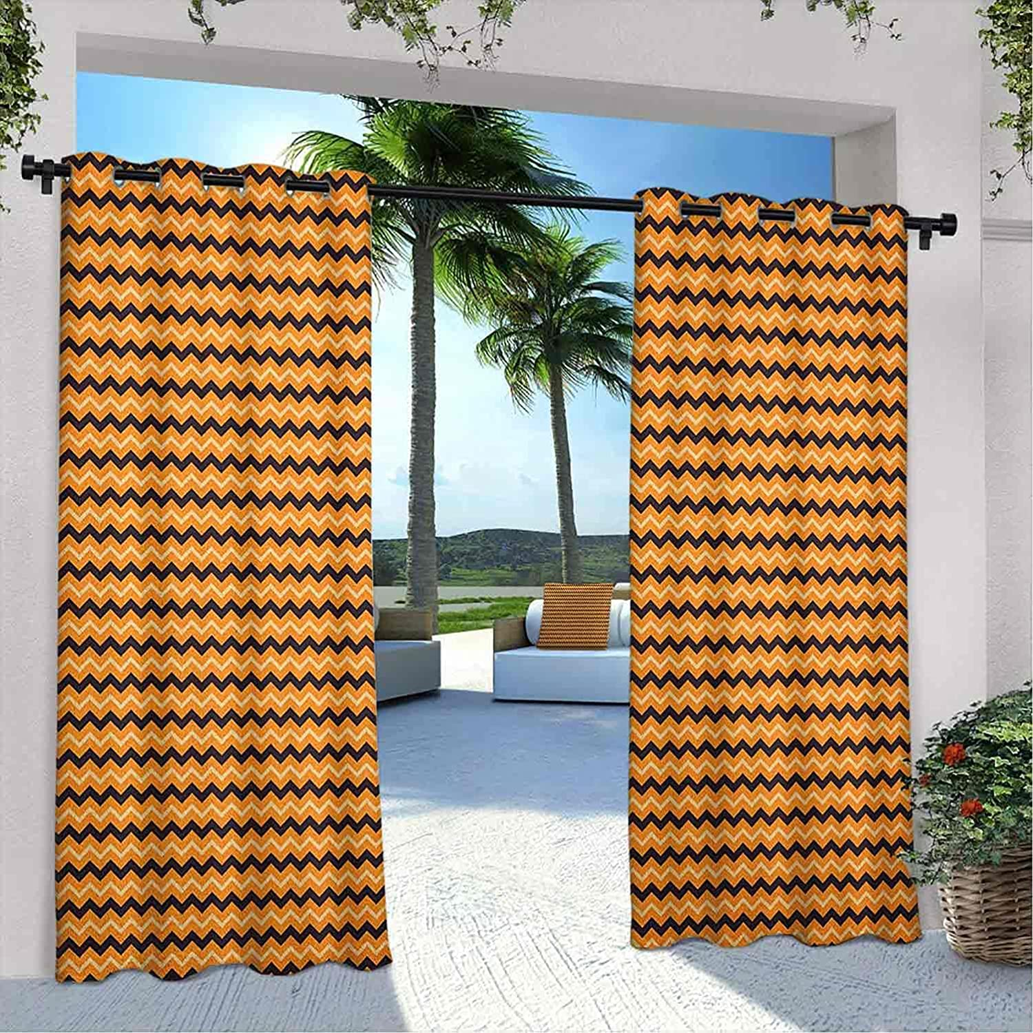 Printed Outdoor Stripes Curtain Chevron Zigzags Pattern Quality inspection Wa with Max 86% OFF