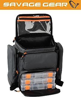 Savage Gear Lure Specialist Mochila M 40X 38X 23cm con 3Angel cajas, mochila, bolsa de pesca para la pesca de lanzado, Pesca, funda para caña de pescar, Pesca Cebo Mochila, cajas
