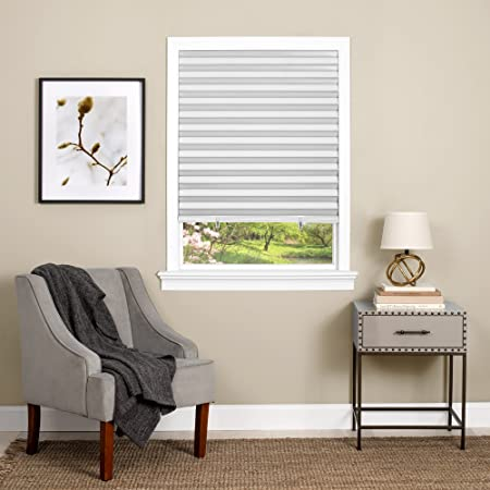 21.5W x 48L Inches White DEZ Furnishings QDWT214480 Cordless Light Filtering Pleated Shade