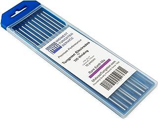"TIG Welding Tungsten Electrodes Rare Earth Blend 1/16"" x 7"" (Purple, EWG) 10-Pack"